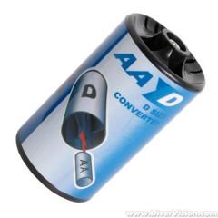 Deeproof Battery Converter AA to D Adapter Holder
