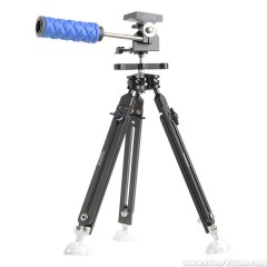 Ultralight Pan and Tilt Tripod with Extendable Legs