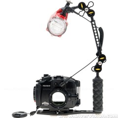 Fantasea FRX100V Housing & INON S-2000 Strobe Set for Sony RX100 III / RX100 IV / RX100V Cameras
