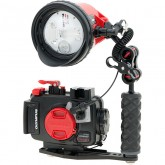 Olympus PT-058 Housing & INON D-200 Strobe Set for Olympus TG-5 & TG-6