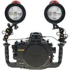 SEA & SEA dSLR Housing & Two INON D-200 Strobe Set