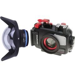 Weefine M52 Ultra-Wide Angle Lens & Olympus PT-058 Housing Set (for TG-5 / TG-6)