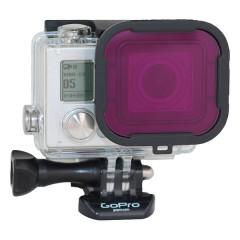 PolarPro Magenta Filter Hero4 for GoPro Hero4 / Hero3+ 40m Standard Housing