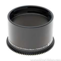 SEA & SEA Focus Gear for Canon EF-S 60mm f/2.8 Macro USM + Kenko HD 1.4X DGX Lens